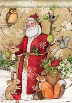 """Plaid Santa Christmas House Flag Primitive Ho Ho Ho 28/"""" x 40/"""""""