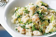 Avocado and prawn risotto (gluten-free)