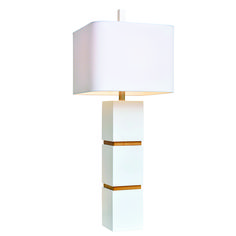 We give Couture Wilshire Table Lamp White glowing reviews for its great shape and contrasting materials. Inspired by 1970's design, the cubistic forms are made of glossy white lacquer, separated by bands of acacia wood in an oak stain. This lamp adds artful illumination in any room.