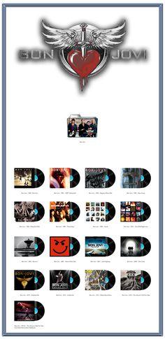 Album Art Icons: Bon Jovi Discography Icons (ICO & PNG)