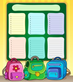 """Photo from album """"Расписание уроков"""" on Yandex. Too Cool For School, Back To School, Timetable Template, Dream Catcher Decor, School Timetable, Indoor Games For Kids, Classroom Background, School Painting, Background Powerpoint"""