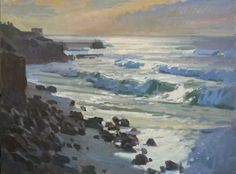 "Sneak Peek: ""View Towards Children's Beach"" by Ray Roberts - #LPAPA16th Gallery Library October 18th & 19th #IndulgeYourPleinAirPassion http://lagunapleinair.org/2014-artists/"