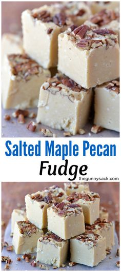 This melt-in-your-mouth Salted Maple Pecan Fudge recipe is a MUST for the holida. This melt-in-your-mouth Salted Maple Pecan Fudge recipe is a MUST for the holidays! Maple Pecan Fudge Recipe, Pecan Recipes, Maple Fudge Recipes, Holiday Baking, Christmas Baking, Candy Recipes, Sweet Recipes, Recipe For Fudge Candy, Köstliche Desserts