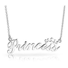Bling Jewelry 925 Sterling Silver Princess Pendant Necklace 16 Inches (1,810 INR) ❤ liked on Polyvore featuring jewelry, necklaces, silver tone, long sterling silver necklace, adjustable necklace, sterling silver necklace pendant, pendant necklaces and long pendant necklace