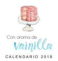 Calendario 2018 Con aroma de vainilla