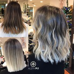 87 unique ombre hair color ideas to rock in 2018 - Hairstyles Trends Ice Blonde, Blonde Hair Looks, Balayage Hair Blonde, Brown Blonde Hair, Bayalage, Blonde Wig, Blonde Ombre, Haircolor, White Ombre Hair