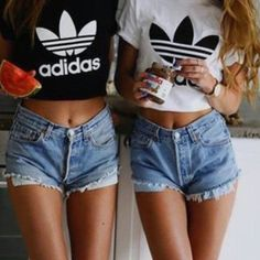 How cute are these matching addidas tees for you and your bff?