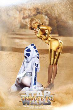 R2D2 and C-3PO #StarWars / Cosplayers: Adamae and Oniksiya Sofinikum