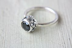Spinel Ring Sterling Silver Queen Margot Titanium by ManariDesign