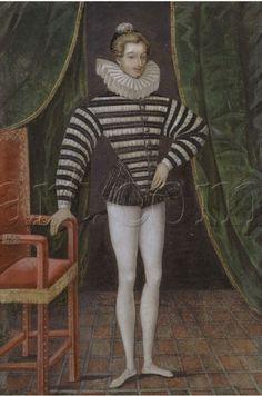 Portrait of Louis Balzac d'Entragues by an unknown artist,1570s