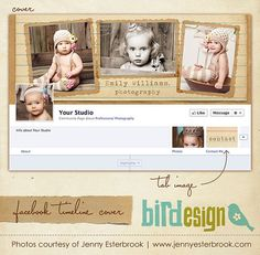 Facebook custom timeline cover  E348 by birdesign on Etsy, $8.00