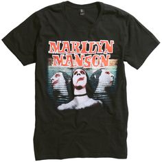 Hot Topic Marilyn Manson Sweet Dreams T-Shirt (71 BRL) ❤ liked on Polyvore featuring men's fashion, men's clothing, men's shirts, men's t-shirts, tops, shirts, clothing - ss tops, band merch, t shirt and mens t shirts