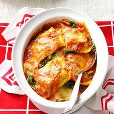 Spinach Ravioli Bake Recipe @keyingredient #cheese #easy
