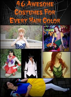 46 Awesome Costumes For Every Hair Color - Love the idea but, as usual, I like all the non-blonde costumes better