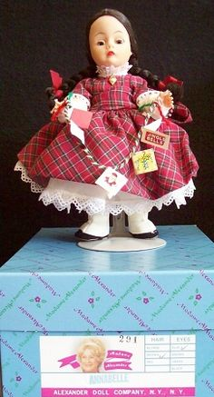 """8"""" Madame Alexander Doll Annabelle at Christmas"""