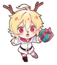 Merry Christmas! Here's a chibi Mika dressed up as a reindeer! So kawaii~ X3 -Shailene