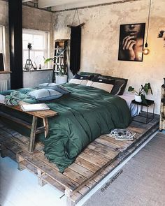 Best Of Bedroom Furniture Design Ideas Diy Projects. Home Decor 50 Creative Recycled Diy Projects Pallet Beds Master Bedroom Design, Home Bedroom, Modern Bedroom, Bedroom Ideas, Bedroom Designs, Warm Bedroom, Loft Style Bedroom, Moroccan Style Bedroom, Serene Bedroom