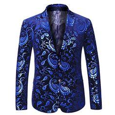 f7e96e76a8d4 Boyland Men s Formal Suit Jacket Slim Fit Notched Lapel Elegant Jacquard  Blazer Jacket Two Button Party Prom - Mudii Boutique