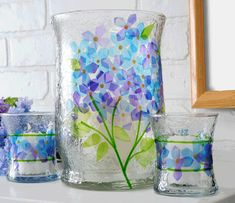 Stained glass vases, use tissue paper to make a pattern instead