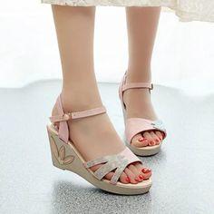 00c8e9efab576 Buy Ornabliss Pink Bling Leaf Sandals For Women online