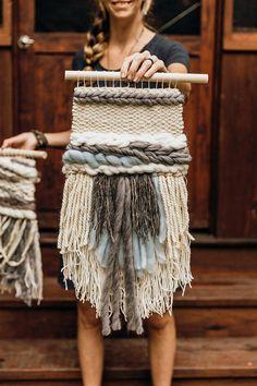 Scandinavian Home Decor Hygge Gray Decor Neutral Wall Weaving Wall Hanging, Weaving Art, Tapestry Weaving, Hand Weaving, Wall Hangings, Weaving Patterns, Stitch Patterns, Knitting Patterns, Hygge
