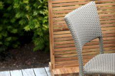 Rollo woven rattan garden chair in putty.