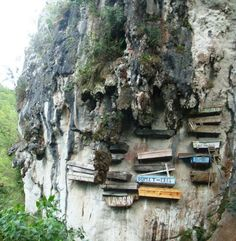 The hanging coffins of China. The hanging coffin is a unique Chinese funerary custom that began in the 8th century BC. As the name suggests, families would place the deceased into wooden coffins and hang them on the side of cliffs.
