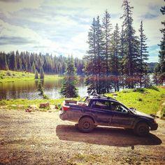 "My 2005 Subaru Baja with a 4"" lift. Spec B 6-speed, STi suretrac front diff, Cusco 1.5 r160 rear diff, STi axles, Vf39, STi TMIC, Cobb AP, Team Dynamics 15"" Rally wheels, GY Wrangler Duratrac,  Subaperformance"