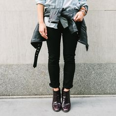 A happy aside to the whole '90s style moment that's happening right now: A variation of the flannel-tied-around-your-waist look,which we first fell in love with during the days ofMy So-Called Lif...