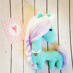 These fancy horses are crocheted in uncommon way - as one part. You need to sew only ears. The height of finished crochet horse is approximately 14 cm.