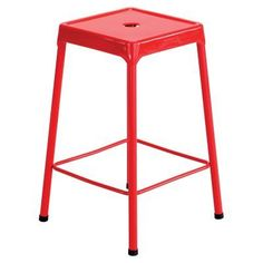 Safco Steel Counter Height Stool Red - 6605RD