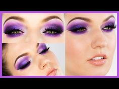Ultra Violet Smokey Eye Makeup - YouTube