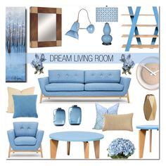 """Dream Living Room"" by anyasdesigns ❤ liked on Polyvore featuring interior, interiors, interior design, home, home decor, interior decorating, TemaHome, Anglepoise, CALLIGARIS and OKA"