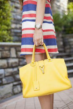 Vestito giallo e bianco electric