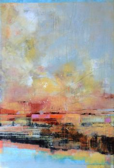 This Morning River painting by Artist, Ann Shogren feels like an awesome cup of organic morning coffee. It's all good!