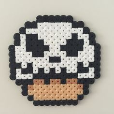 Jack Skellington (Nightmare Before Christmas) mushroom perler beads by Bjrnbr - Björn Börjesson