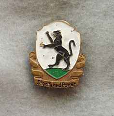 US Army 592nd Recon Bn 92 Cavalry Sqn pin DI DUI CREST CB No Hmk Painted Japan