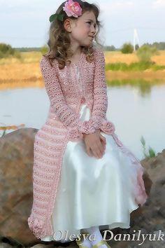 Верхняя одежда ручной работы. Ярмарка Мастеров - ручная работа Кружевное пальто для девочки  Алисы. Handmade.
