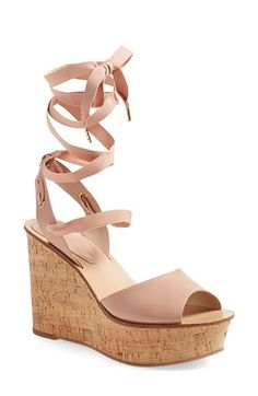 Topshop 'Wise' Platform Wedge (Women) available at #Nordstrom