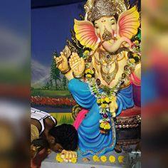 New pin for Ganpati Festival 2015 is created by by thewolf_anish18 with आभळ भरल हत बपप त यतन आत डळ भरल तल पहन जतन बपप लवकर य पढचय वरष.... #missyou#bappa#love#ganpatibappa#moriya#sbicharaja#instalove#blessed#happy#night
