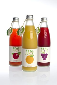 Real Juice packaging design. Designed by: Bryson Walker, USA.