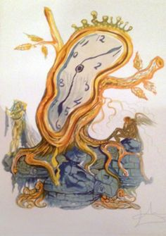 """Stillness of Time 1980"" Salvador Dali Lithograph on Paper Size : 28 x 19 in http://zaidan.ca/Art_Gallery/Dali/Dali.htm"