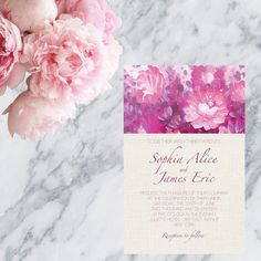 Printable Wedding Invitation Ceremony Reception - Print at home Invitation by MarielleStudios on Etsy
