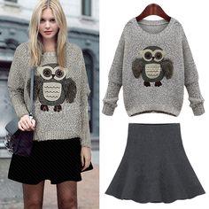Skirt , mini skirt , cute , style , sweater , grey