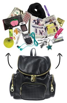 """What's in my bag?"" by ancushe ❤ liked on Polyvore featuring art"