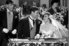 "Joel McCrea and Claudette Colbert, ""The Palm Beach Story"", 1942."