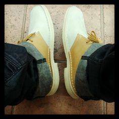 Two-tone #Clarks Desert Boots on #statigram