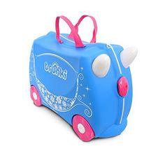 Trunki Ride-On Suitcase Bagage Enfant, 46 cm, 18 L, Princesse: Une valise originale et pratique, à la fois porteur, valise et jouet ! Les…