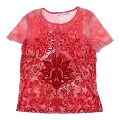 e293ba2c16d Rebecca Malone Women s Embellished Shirt size M pink cotton polyester   fashion  clothing  shoes