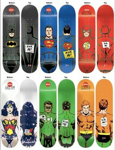 Super hero skateboards